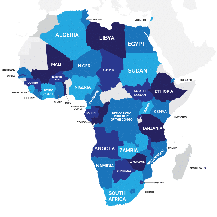 Employ Africa 40 countries
