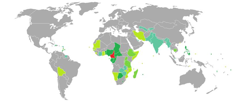 Camaroon Visa Map